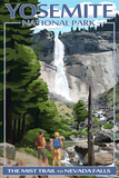 The Mist Trail - Yosemite National Park, California Targa di plastica di  Lantern Press