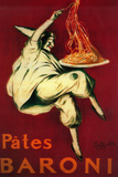 Pates Baroni Vintage Poster - Europe Plastic Sign by  Lantern Press