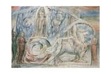 Illustrations to Dante's 'Divine Comedy', Beatrice Addressing Dante from the Car Giclee Print by William Blake