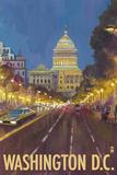 Washington DC, The Capitol Building Plastic Sign by  Lantern Press