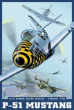 B-25 Bomber Escort Mission - P-51 Mustang, c.2008 Plastic Sign by  Lantern Press