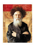 Portrait of a Rabbi before Torah Curtain Prints by Isidor Kaufmann