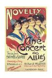 Novelty - Cine Concert Des Allies Prints by Georges Dola