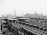 The Elevated Station at Thirty-Sixth Street, Philadelphia, Pa. Print