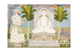 Rai Sabha Chand at a Jain Shrine Prints