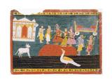 Rama Visits Bharadvaja's Hermitage Print