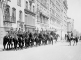 Squad of Mounted Police, New York Photo