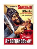 Vazhniya Important Filtered Cigarettes from Bogdanov of St. Petersburg Posters