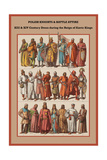 Polish Knights and Battle Attire XIII and XIV Century Print by Friedrich Hottenroth