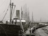 Loading Lumber Steamer, Gulfport, Miss. Prints