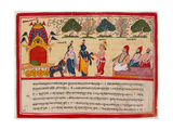 Krishna and Balarama Arrive in the Forest Prints