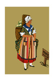 Vegetable Merchant from the Vicinity of Paris Print by Elizabeth Whitney Moffat