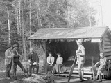 An Open Camp in the Adirondacks, New York Photo