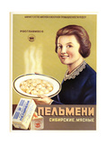 Siberian Meat - Pelmeni - Meat Stuffed in Pastry Affiches