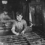 Linking Bed Sprigs Photo by Lewis Wickes Hine