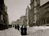 Fifth Avenue after a Snow Storm, New York Prints