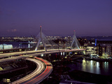 Leonard P. Zakim Bridge at Night Photo by Carol Highsmith