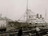S.S. Morro Castle, Cramps Shipyards, Philadelphia Photo