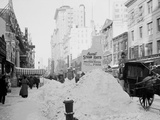Piles of Snow on Broadway, after Storm, New York Photo