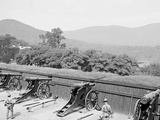Siege Battery Drill, Firing, United States Military Academy, West Point, N.Y. Print