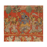 Krishna Dancing with Gopis in Vrindavan Prints