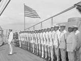 U.S.S. New York, Marine Guard Photo