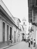 Calle Emperador and Cathedral, Havana, Cuba Photo