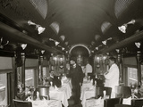 Dining Car, D.L. W. R.R. Delaware, Lackawanna and Western Railroad Print