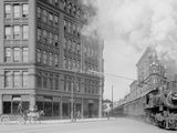 Empire State Express (New York Central Railroad) Passing Thru Washington Street, Syracuse, N.Y. Photo