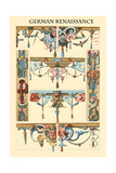 Ornament-German Renaissance Prints by  Racinet