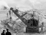 Steam Shovel Removing Rock Loosened by Dynamite, Livingstone Channel, Mich. Photo