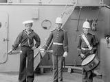 U.S.S. Massachusetts Buglers and Drummer Photo