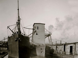 Steamer Loading Grain from Floating Elevator, New Orleans, La. Posters