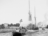 Busy Day in the Canal, Charlevoix, Mich. Photo