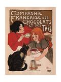 Compagnie Francaise Des Chocolats Et Des Thes Prints by Theophile Alexandre Steinlen