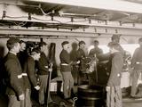 U.S.S. Massachusetts, 6 Inch Gun and Crew Photo