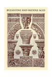 Ornament-Byzantine and Middle Ages Prints by  Racinet