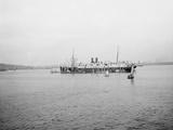Steamship in Harbor Photo