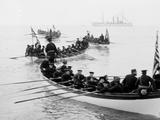 U.S.S. Newark, Boat Drill in Hampton Roads Photo