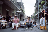 Bourbon Street Band in the French Quarter Photo by Carol Highsmith