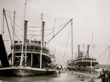 Loading Steamer During High Water, March 23, 1903, New Orleans, LA Photo