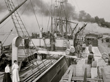 Steamer Loading Resin, Gulfport, Miss. Posters