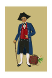 Alsacian Man from Saverne with Pipe, Tri-Cornered Hat and Wears Britches Posters af Elizabeth Whitney Moffat