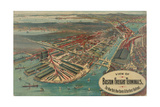 Boston Freight Terminals Art by  George Walker & Co.