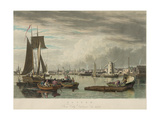 Boston from City Point Near Sea Street Print by W.J. Bennett