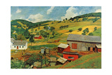 Shreyvogel Farm Print by Charles Shreyvogel