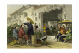 Itinerant Barber Art by Thomas Allom