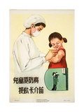 Vaccinating a Young Girl Against TB Poster