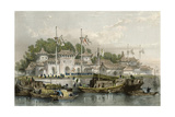 Military Station Chokian Print by Thomas Allom