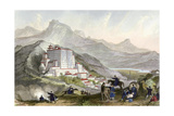 Tibet Lhasa Potala Palace Prints by Thomas Allom